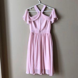 Off Shoulder Blush Pink Dress for Wedding or Prom